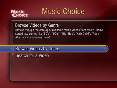 Music Choice - Music Videos On Demand  Movies / TV